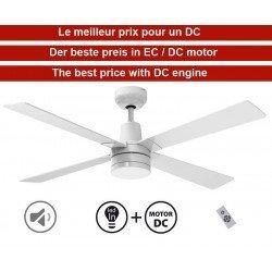 Electra  von KlassFan limited DC-Deckenventilatoren Designer-Serie, kompakt, ultra-leistungsstark, mit LED-Beleuchtungssystem